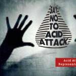 Representational Image of Acid Attack on Men