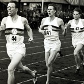Roger Bannister breaking the four-minute mile