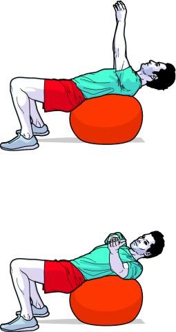 stability ball russian twist