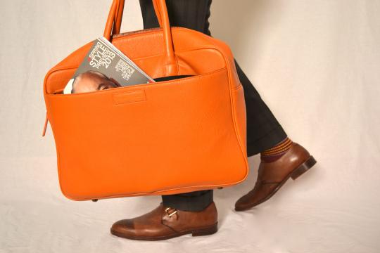 Logan Zane Orange Pebble Bag