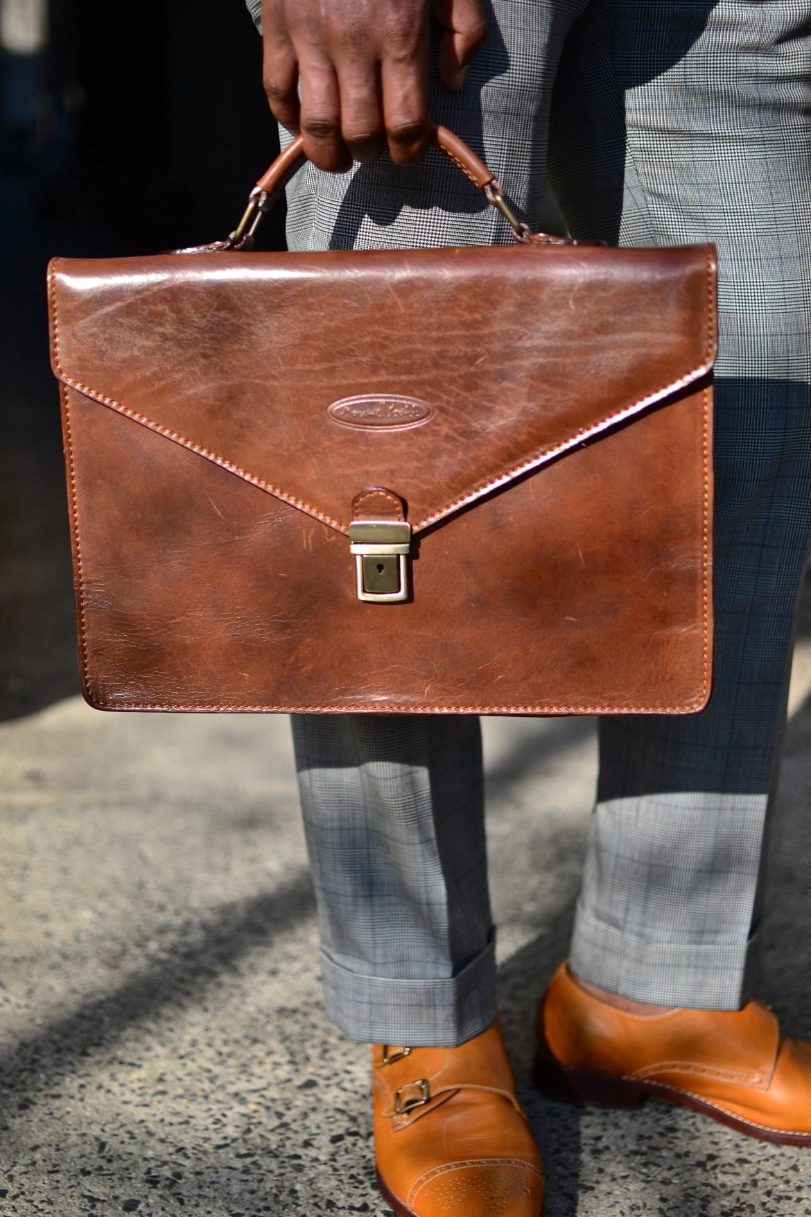 Maxwell Scott Leather Briefcase