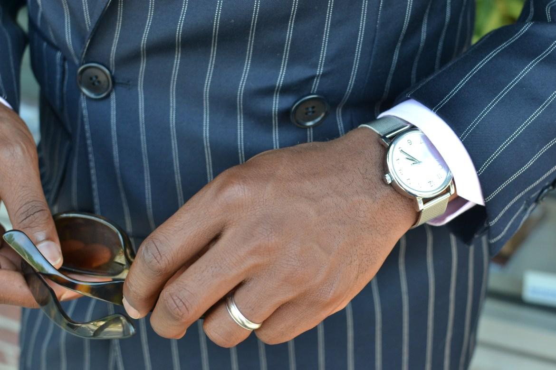 Hackett London Wool Linen Double Breasted Suit on Men's Style Pro