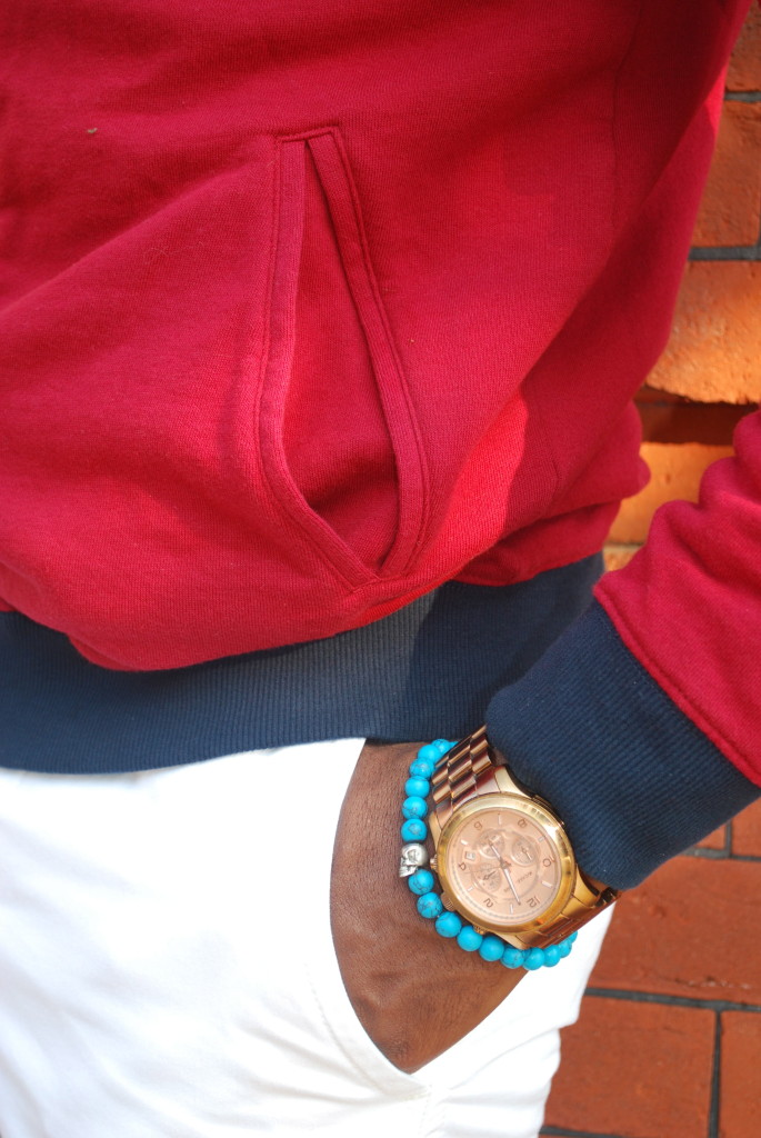 Degs & Sal Blue Stone Skull Bracelet
