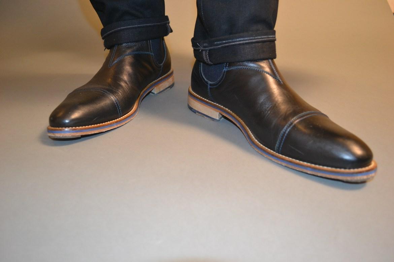 Sabir Peele in Johnston & Murphy Hannigan Gore Boots