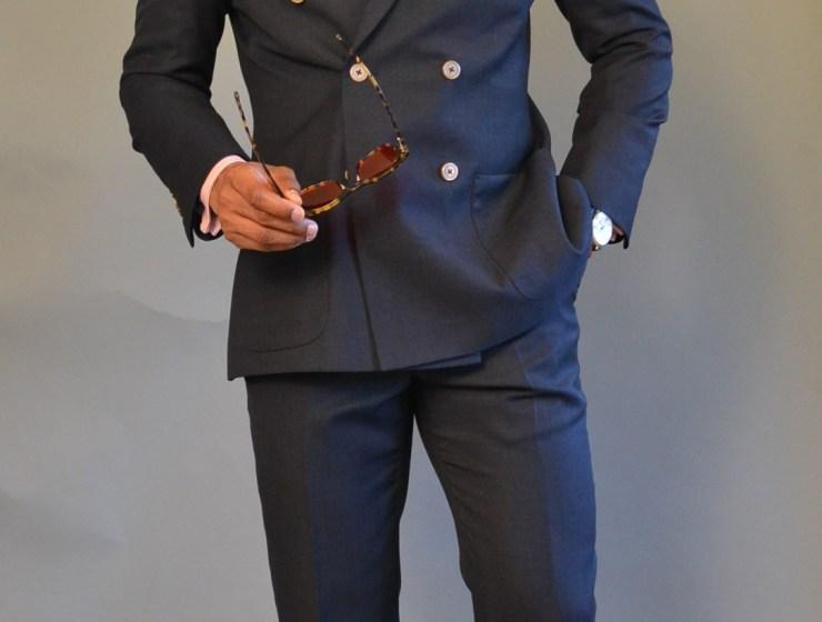 Sabir Peele in Alfa Clothiers Custom Suit