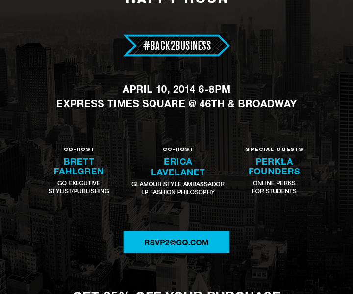 GQ x Glamour x Express Happy Hour