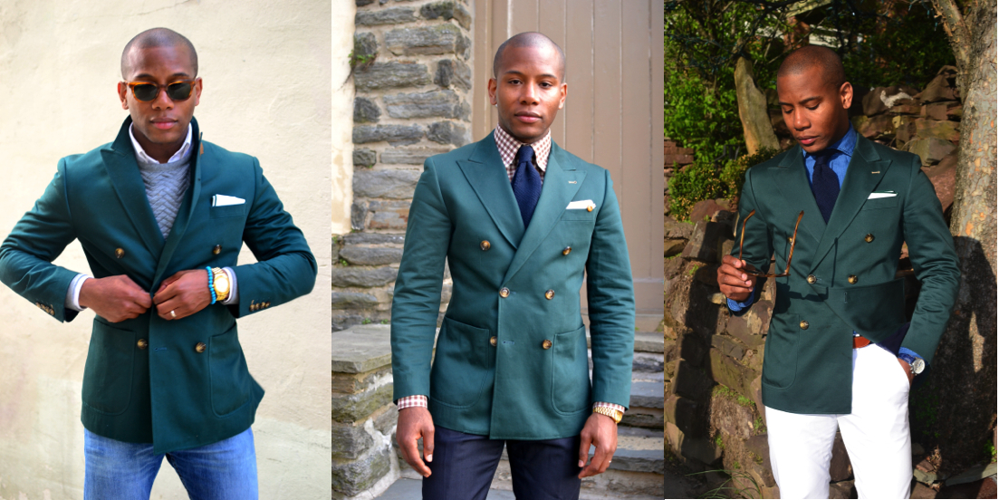 How To | Rock The Green Double-Breasted Blazer 3 Ways