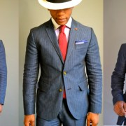 Men's Style Pro x Ted Baker Blue Linen Herringbone Suit