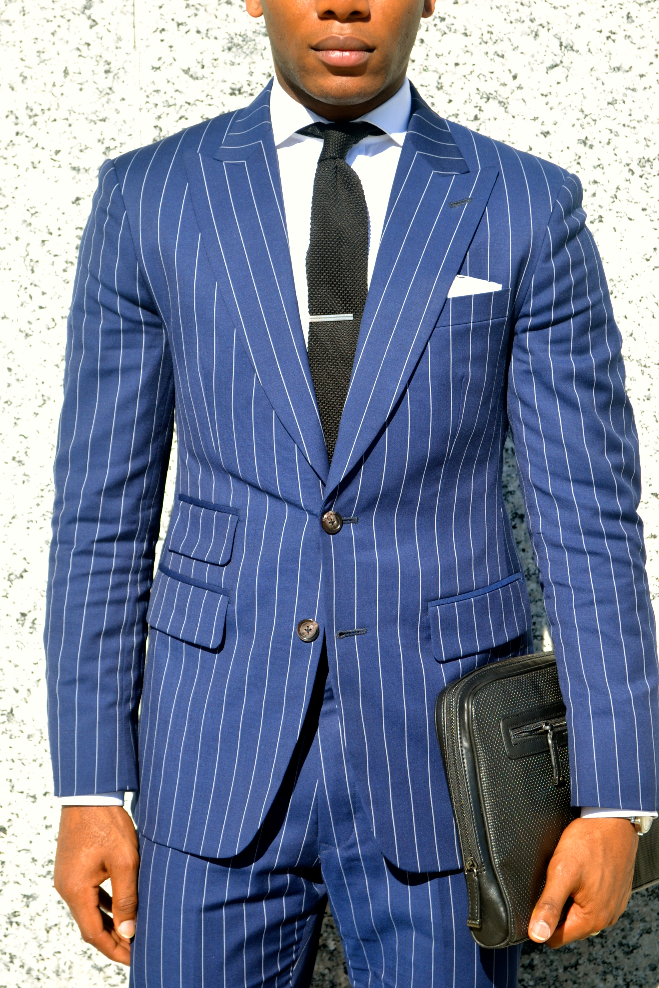 Imparali Custom Tailors Chalk Striped Edinburgh Suit