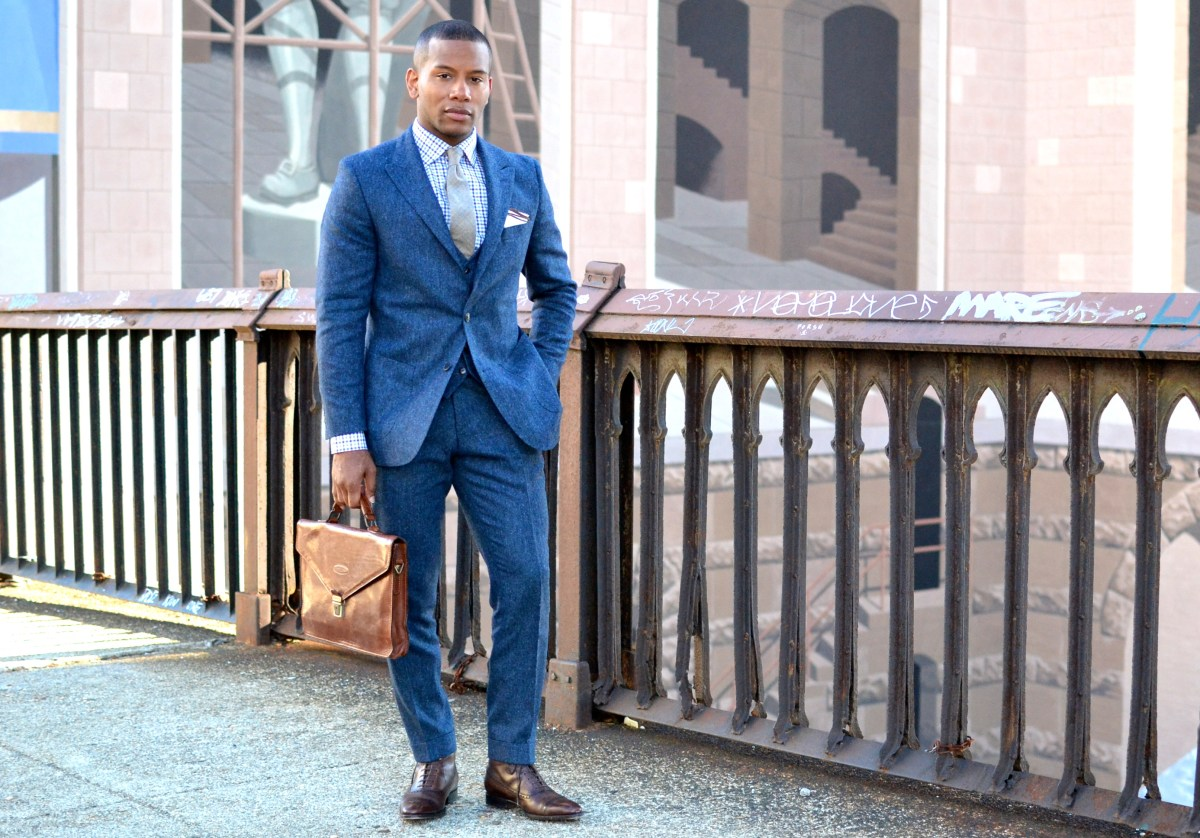 Winter Essentials: The Blue Donegal Tweed Suit