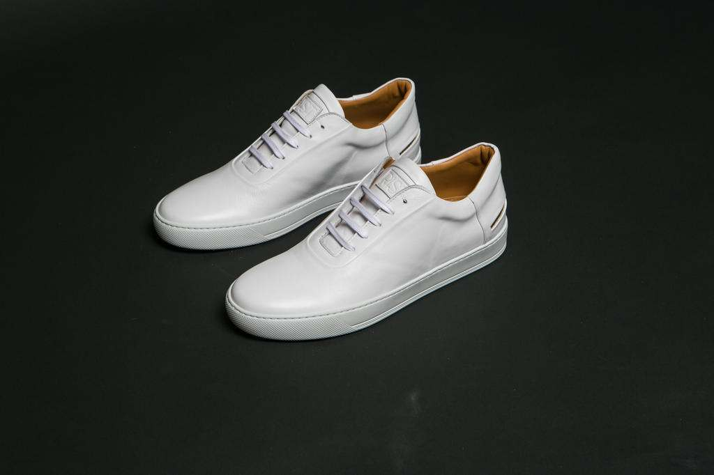 RIST Footwear White Leather Sneakers
