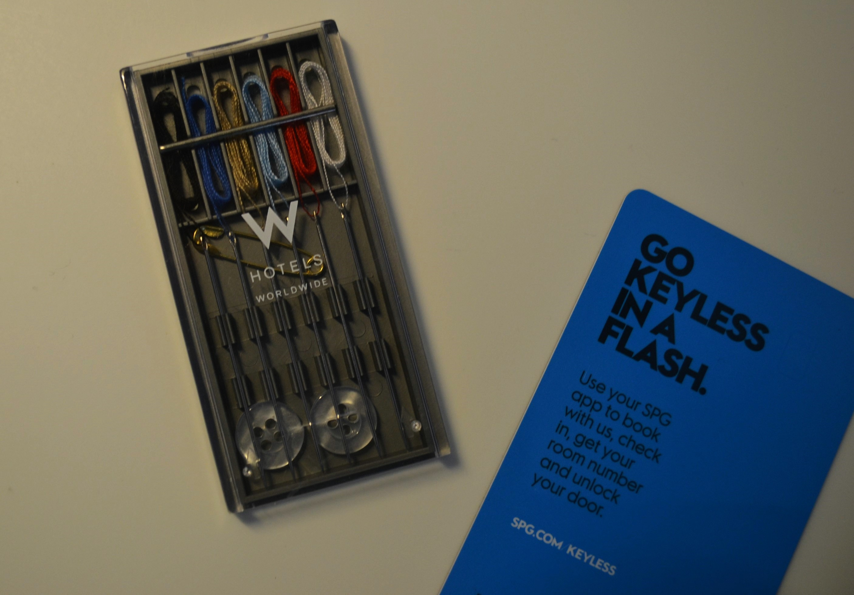 The W Hotel NY Downtown emergency sewing kit