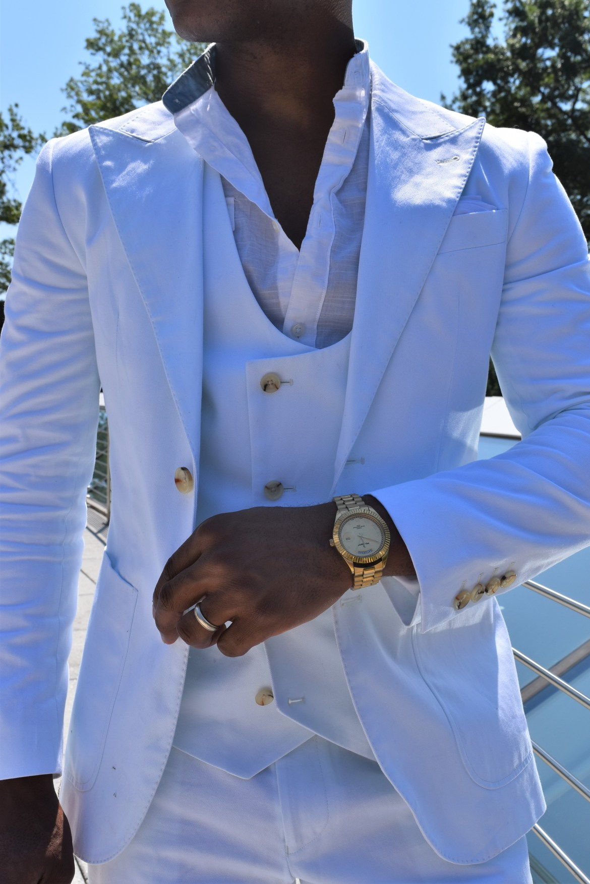 Men's Style Pro in Diner En Blanc Indochino White Suit