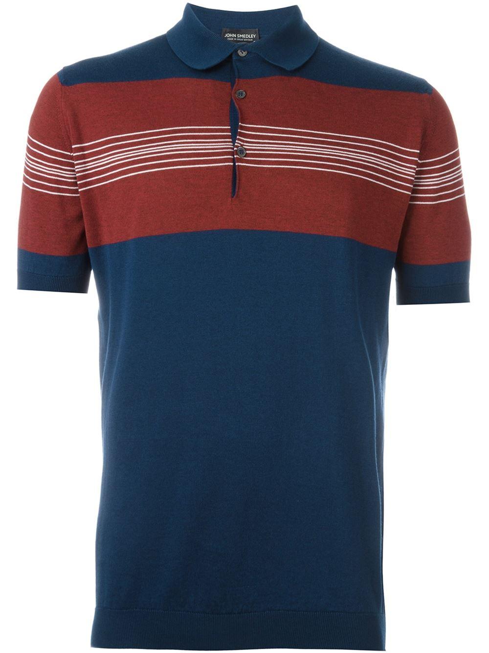 John Smedley Knitted Polo Shirt