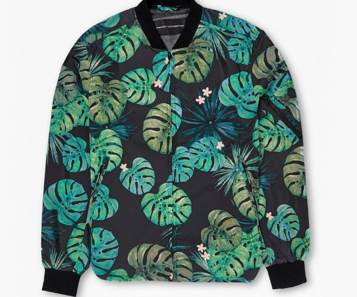 French Connection Cabana Leaf Bomber Jacket (2)
