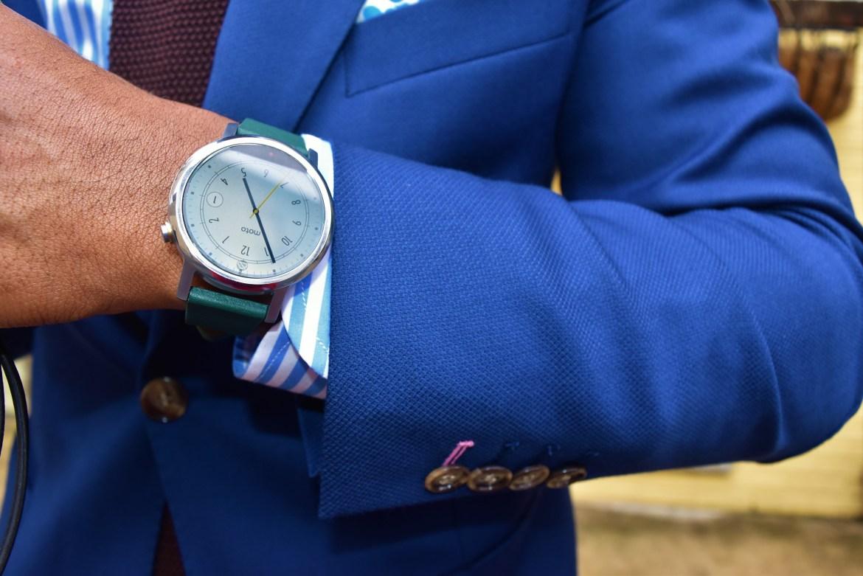 Sabir M. Peele of Men's Style Pro in Oliver Wicks Intense Blue Hopsack Suit