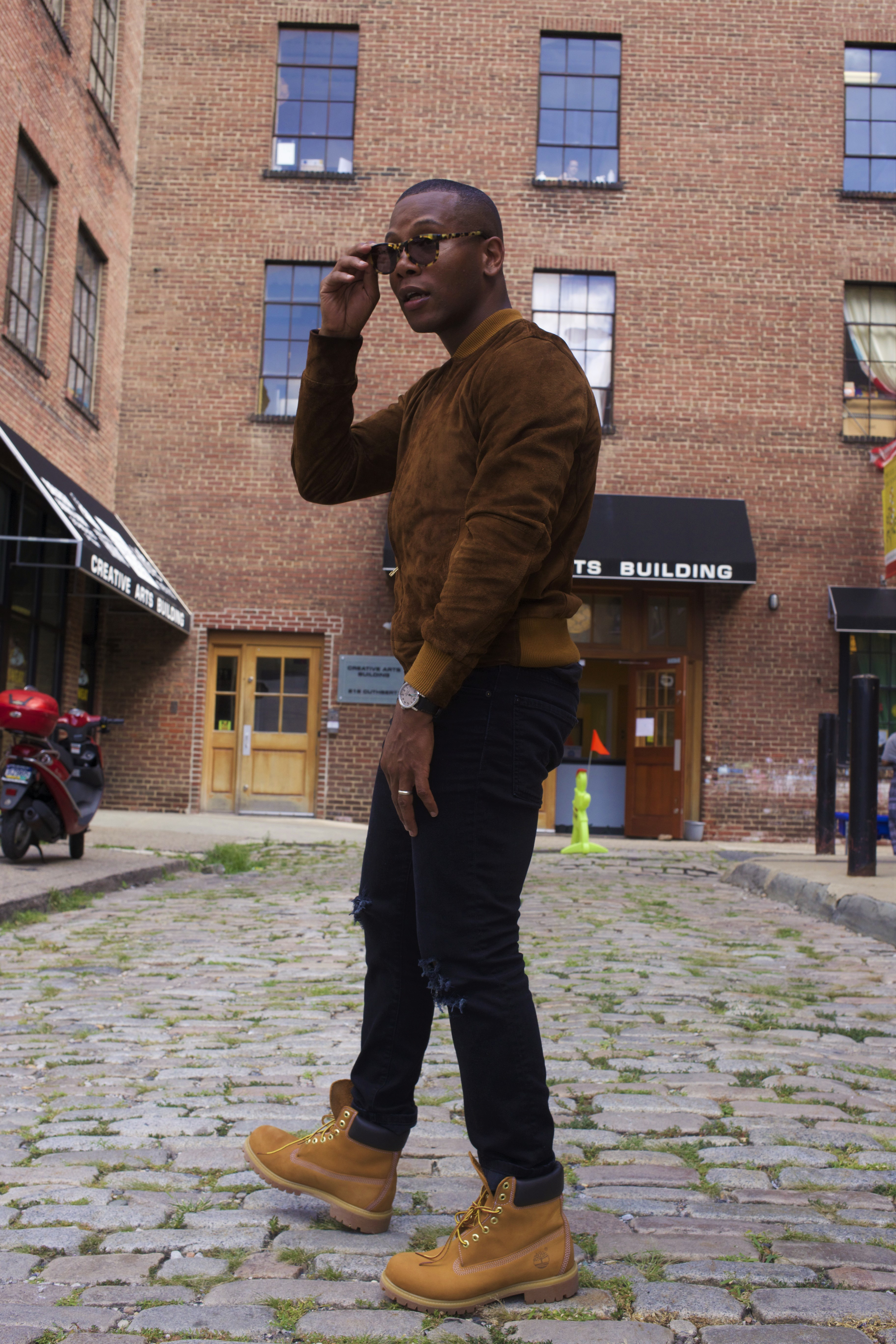 Sabir Of Men's Style Pro in Timberland 6 inch yellow boots