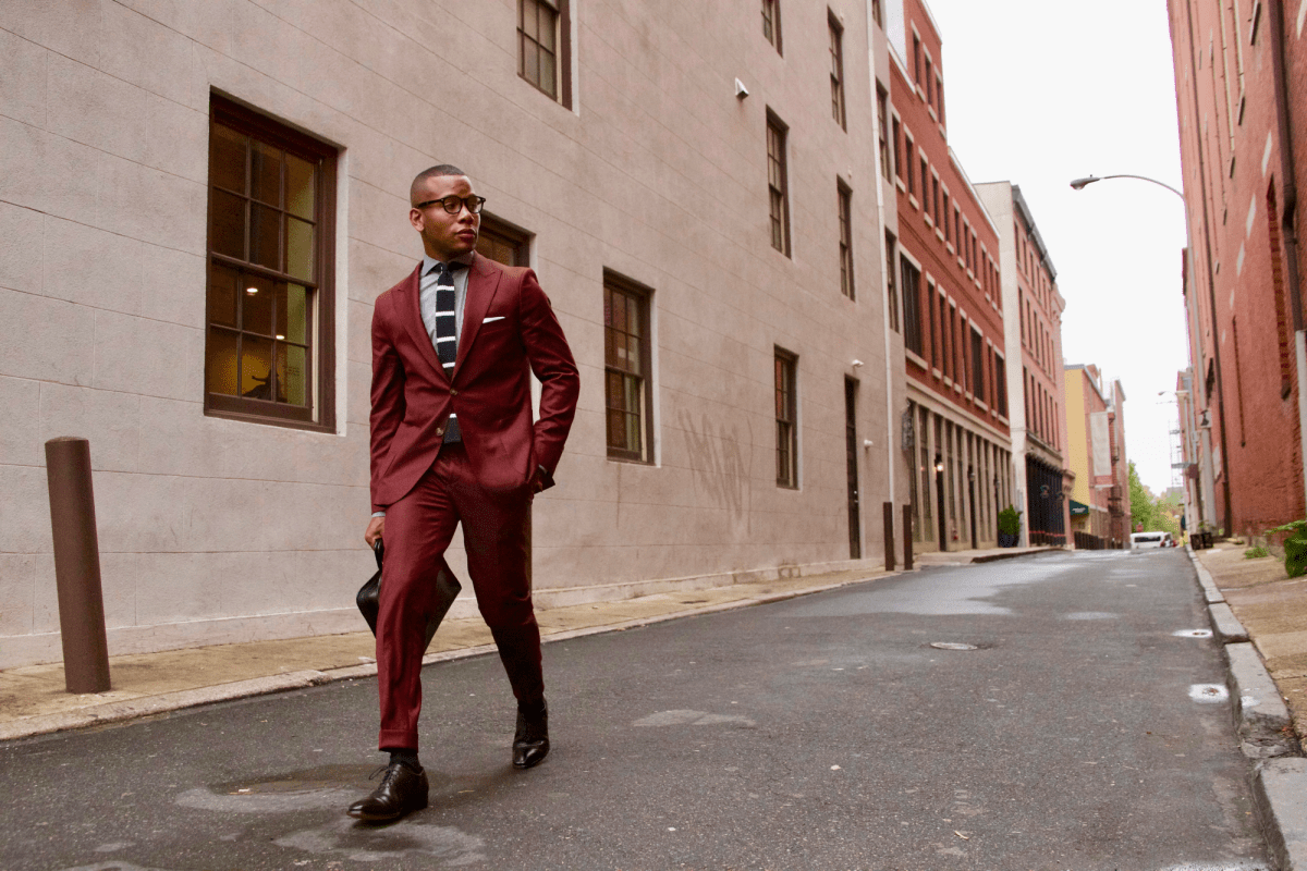 Not Your Basic Burgundy Suit 3 Ways