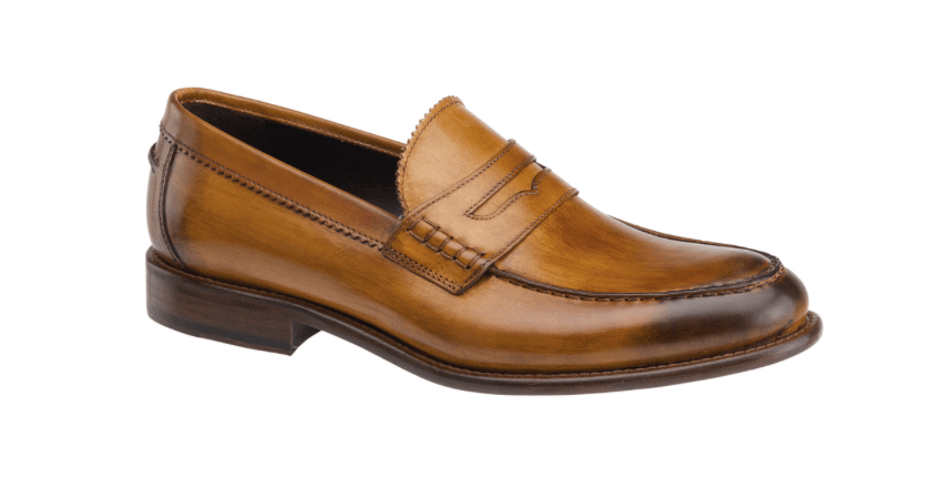 Johnston & Murphy Mcfarling Penny in Tan leather