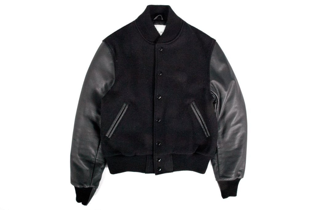 P's & Q's All Black Varsity Jacket
