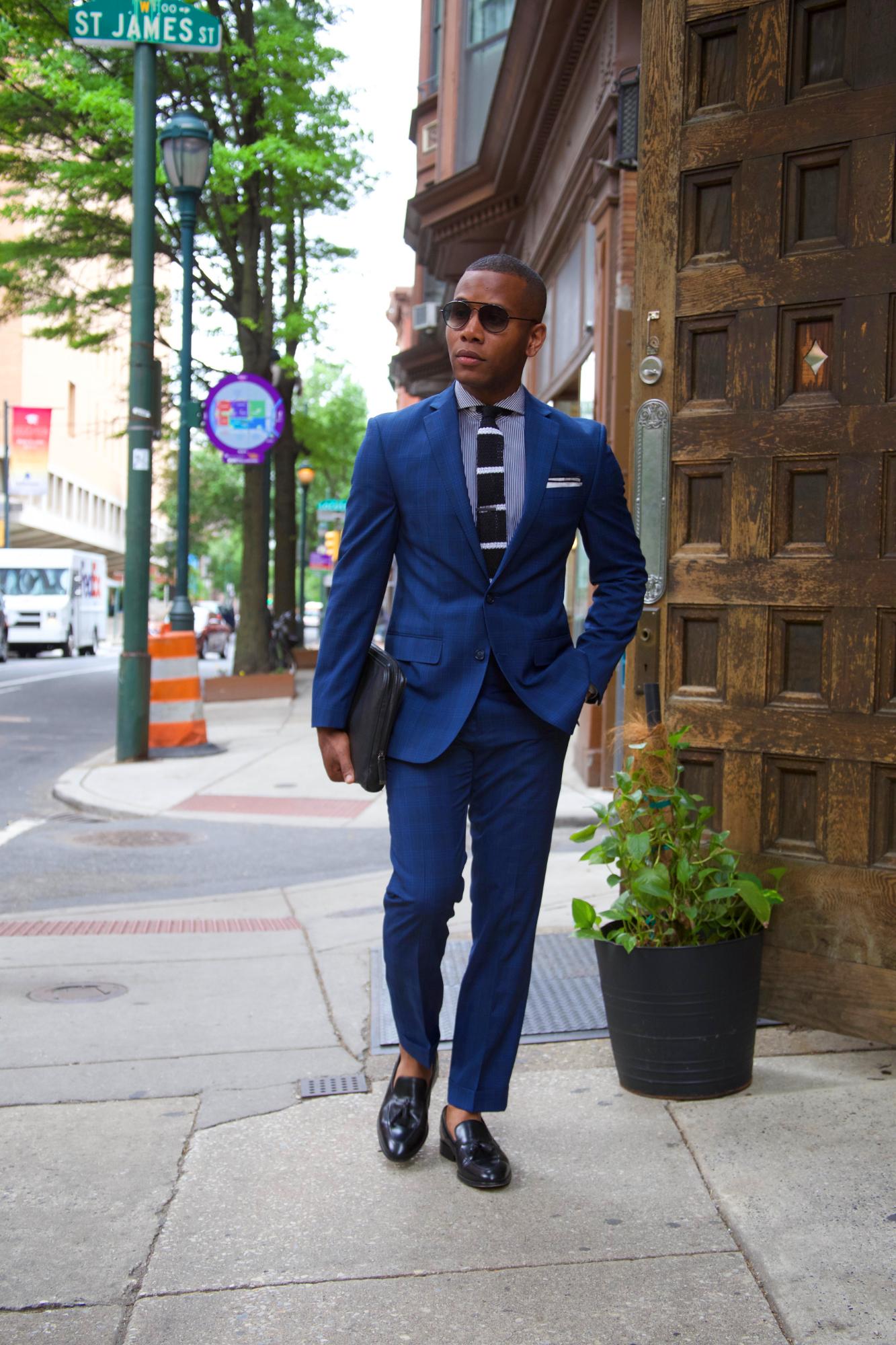 Heightened Navy Plaid Suit Two Ways w/ Sean John