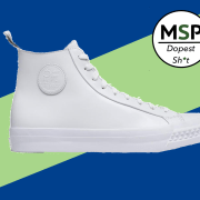 Todd Snyder x PF Flyers Rambler Hi White Sneakers