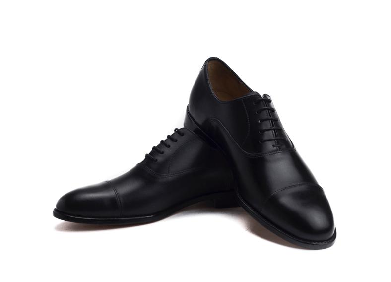 alperton captoe black oxford shoe