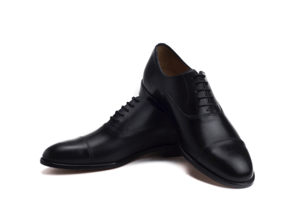alperton captoe black oxford shoe