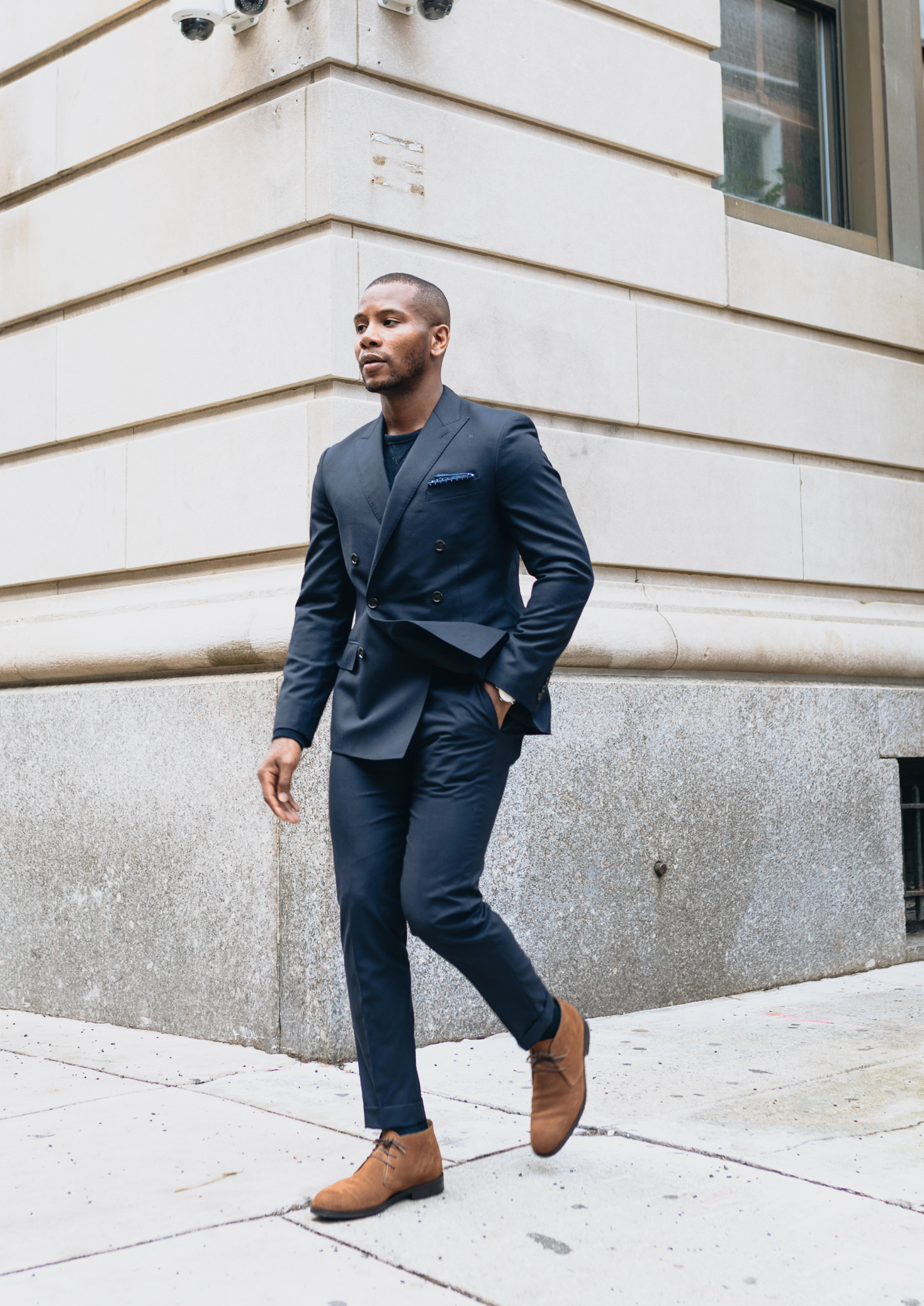 Navy Suit x Cobble & Hyde Snuff Suede Chukka Boot