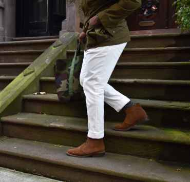 White Corduroy Pants For Fall