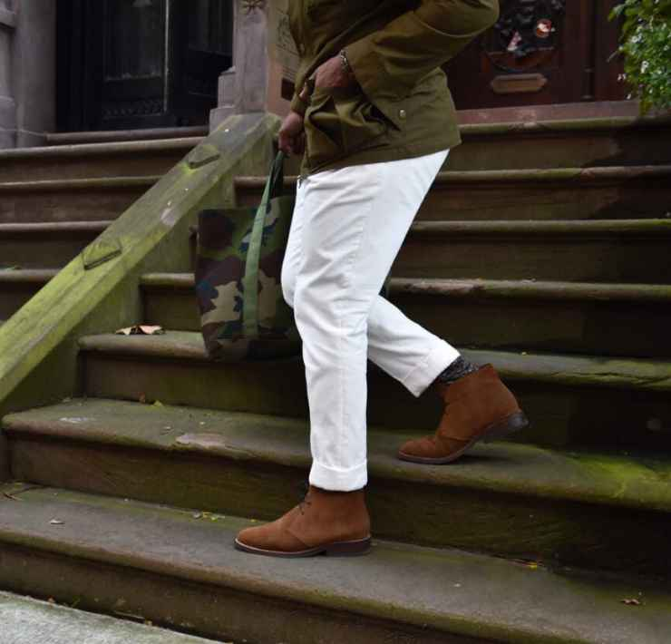 White Corduroy Pants For Fall