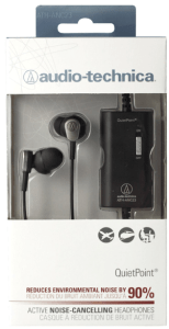 Audio Technica ATH-ANC23 QuietPoint Active Noise-Cancelling In-Ear Headphones