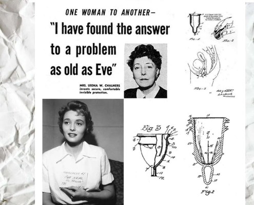 Who invented the menstrual cup?