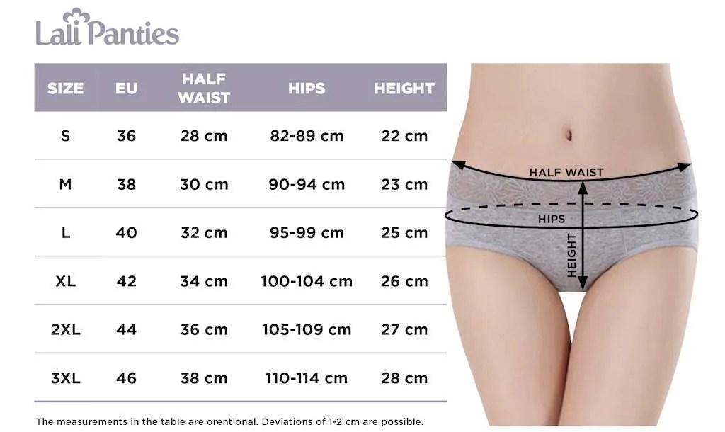 lalipanties size chart