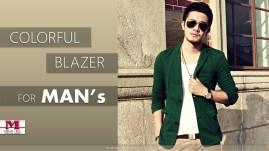 Men Colorful Blazer