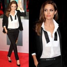 Angelina Jolie in Tuxedo Suit