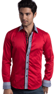 Double Collar Red shirt