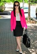 Dark pink color blazer