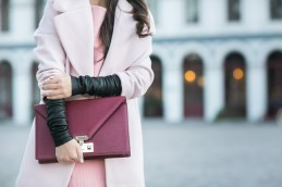 Pinkcolor cashmere coat