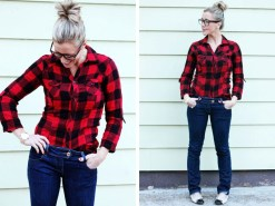 flannel Red shirts for women