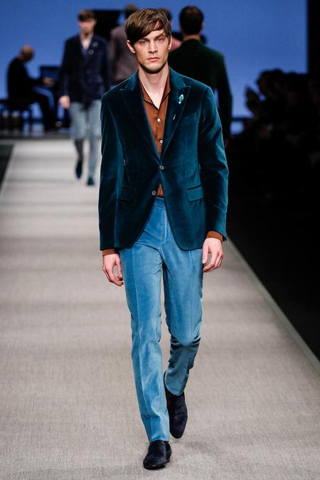 Blue Velvet Blazer With Denim Jeans