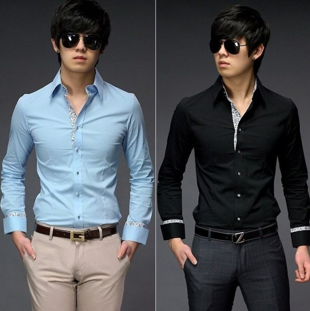 casual_dress_shirtmens_black
