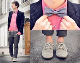 Dress Shirt With Bow Tie With Blazer