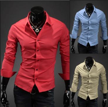 Slim-fit-casual-Dress-shirt-man