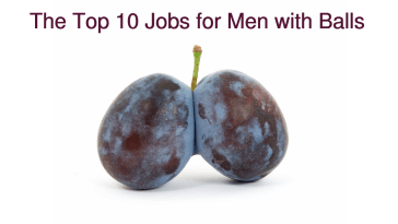 top 10 jobs for men with balls