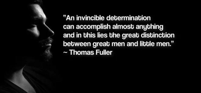secret of success - determination