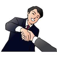 握手・やり手の男性jpg
