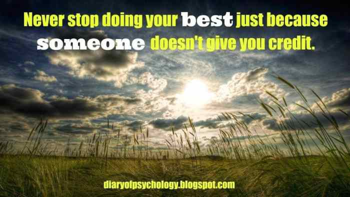 Never stop doing your best - inspirational life quotes