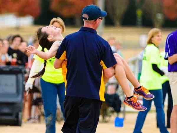 kayla multiple sclerosis running star carried by coach