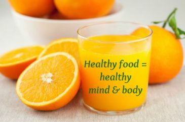Healthy food means healthy mind and body